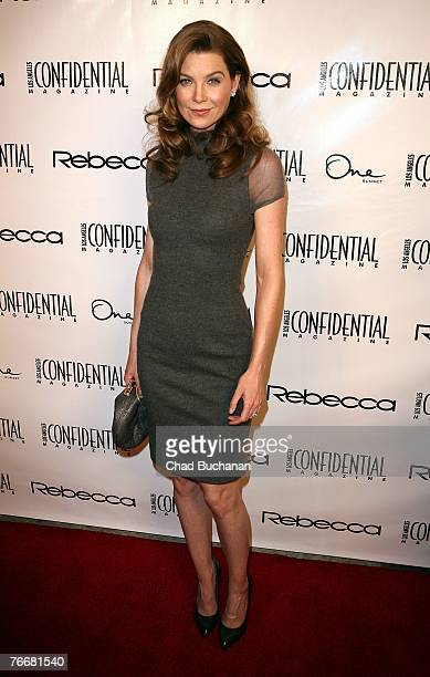 Actress Ellen Pompeo attends Los Angeles Confidential Magazine's Emmy Party at One Sunset on September 11, 2007 in West Hollywood, California.