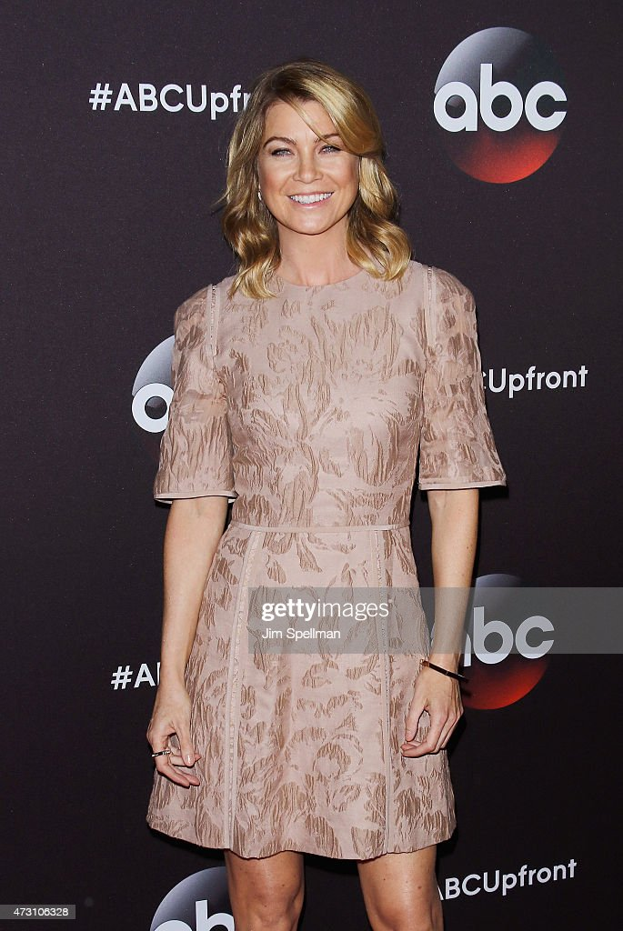 Actress Ellen Pompeo attends the 2015 ABC upfront presentation at Avery Fisher Hall at Lincoln Center for the Performing Arts on May 12, 2015 in New York City.