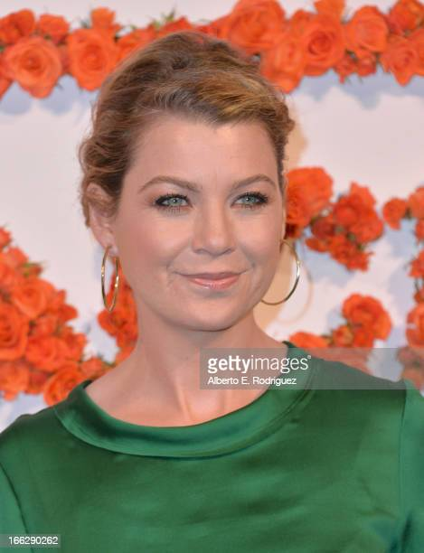 Actress Ellen Pompeo attends the 3rd Annual Coach Evening to benefit Children's Defense Fund at Bad Robot on April 10 2013 in Santa Monica California