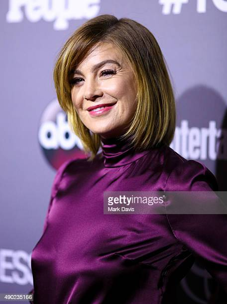 Actress Ellen Pompeo attends the celebration of ABC's TGIT Lineup held at Gracias Madre on September 26 2015 in West Hollywood California