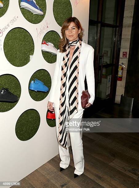 Actress Ellen Pompeo attends the collaboration celebration of Pharrell Williams and Adidas at Hinoki The Bird on December 3 2014 in Los Angeles...