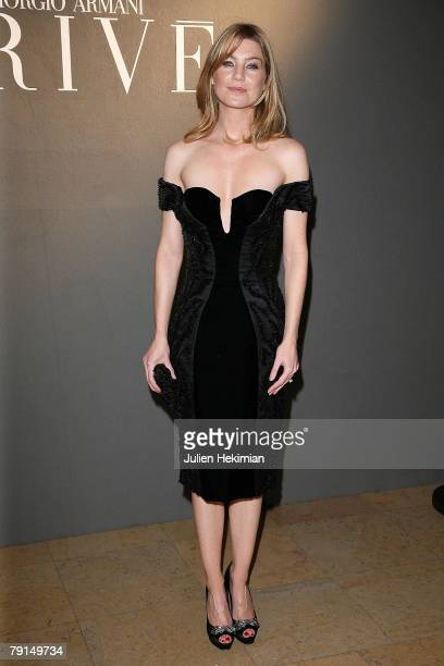 Actress Ellen Pompeo attends the Giorgio Armani Prive Spring/Summer 2008 Haute Couture Collection Show January 21 2008 in Paris France