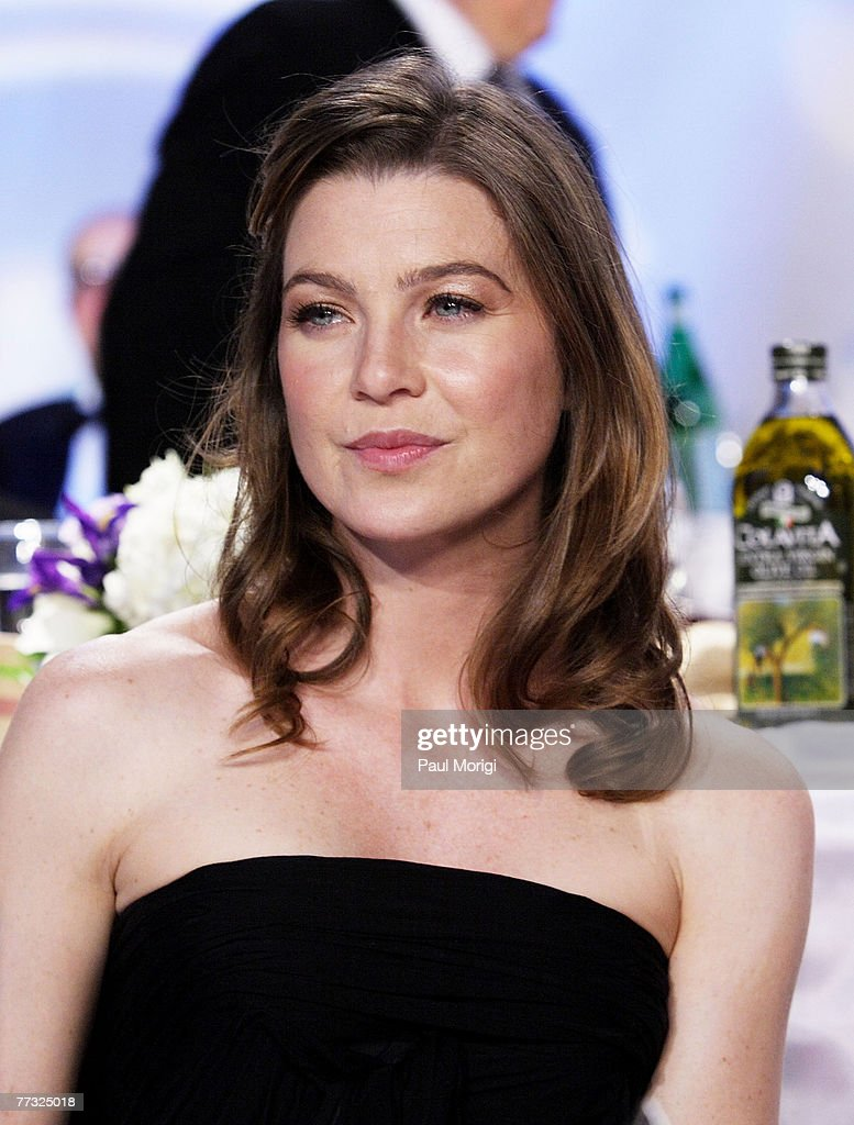 Actress Ellen Pompeo attends the National Italian American Foundation gala dinner at the Hilton Washington & Towers on October 13, 2007, in Washington, DC.