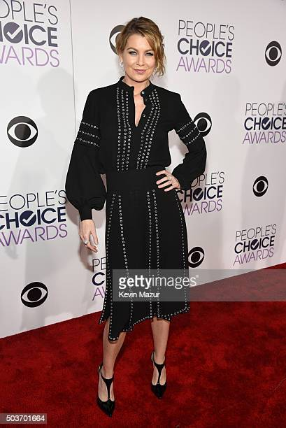 Actress Ellen Pompeo attends the People's Choice Awards 2016 at Microsoft Theater on January 6 2016 in Los Angeles California