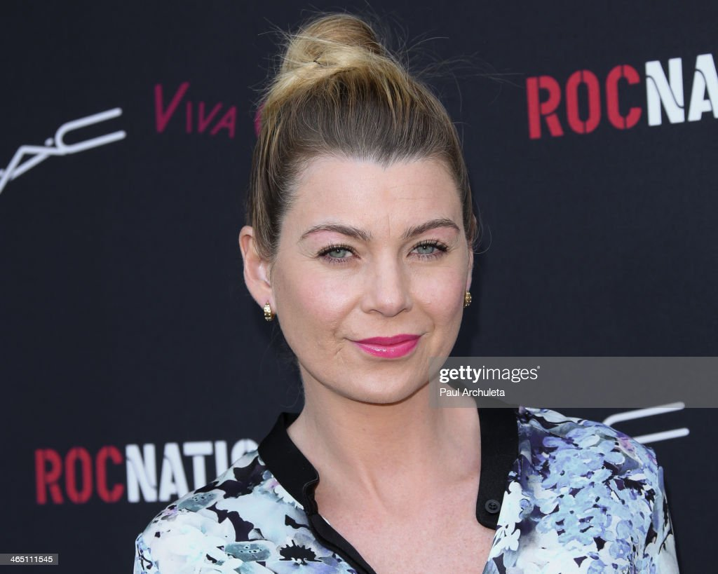 Actress Ellen Pompeo attends the Roc Nation pre-Grammy brunch on January 25, 2014 in Los Angeles, California.