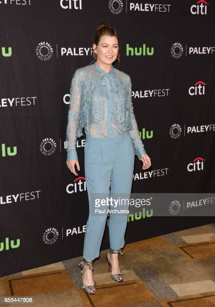 """Actress Ellen Pompeo attends the The Paley Center For Media's 34th Annual PaleyFest Los Angeles - """"Grey's Anatomy"""" at Dolby Theatre on March 19, 2017..."""