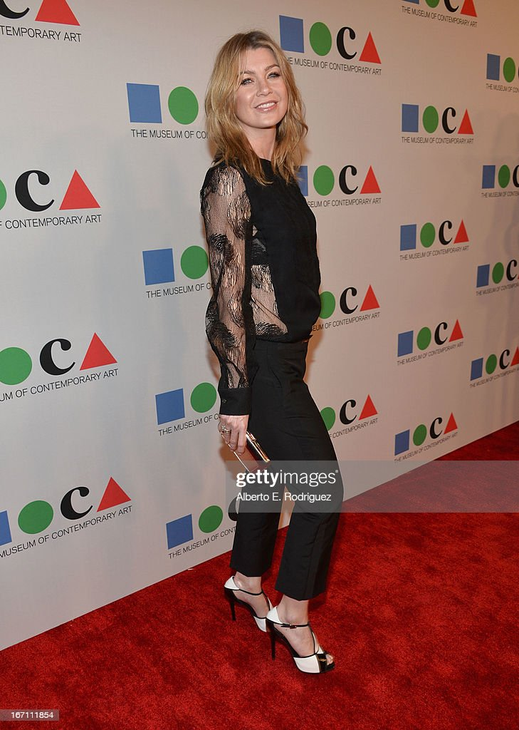 """Actress Ellen Pompeo attends """"Yesssss!"""" MOCA Gala 2013, Celebrating the Opening of the Exhibition Urs Fischer, at MOCA Grand Avenue and The Geffen Contemporary on April 20, 2013 in Los Angeles, California."""