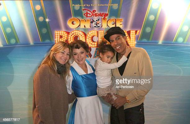 Actress Ellen Pompeo Chris Ivery and daughter Stella Ivery attend Disney On Ice Presents 'Rockin' Ever After' At STAPLES Center at Staples Center on...