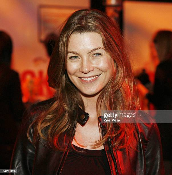 Actress Ellen Pompeo poses at the after party for the premiere of Universal Pictures' Knocked Up at the Mann's Village Theater on May 21 2007 in Los...