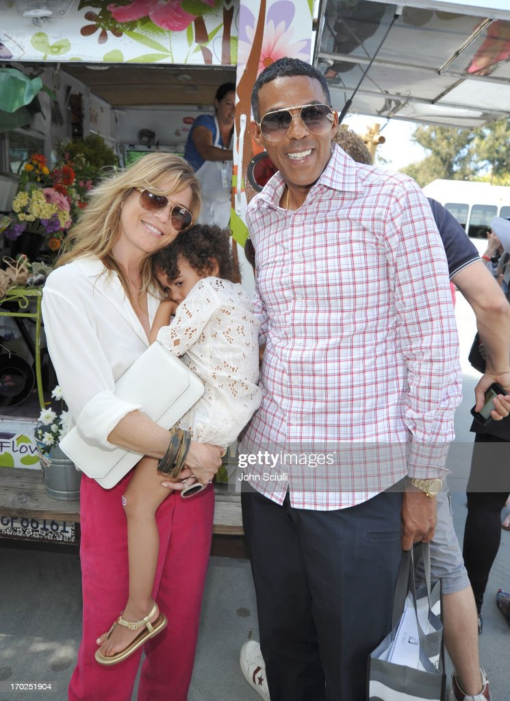 Actress Ellen Pompeo, Stella Luna Pompeo Ivery, and Chris Ivery attend the 1st Annual Children Mending Hearts Style Sunday on June 9, 2013 in Beverly Hills, California.