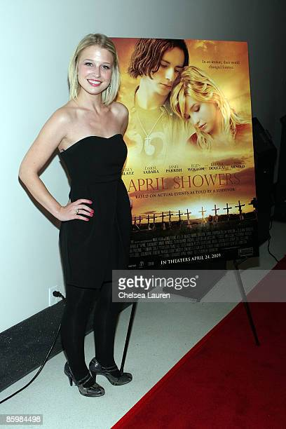 "Actress Ellen Woglom attends the Los Angeles premiere of ""April Showers"" at The Landmark Theater on April 14, 2009 in Los Angeles, California."