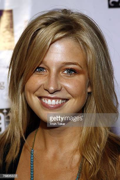 Actress Ellen Woglom attends the NVE Clothing & Isabella Valentina fashion show at the Cabana Club July 26, 2007 in Hollywood, California.