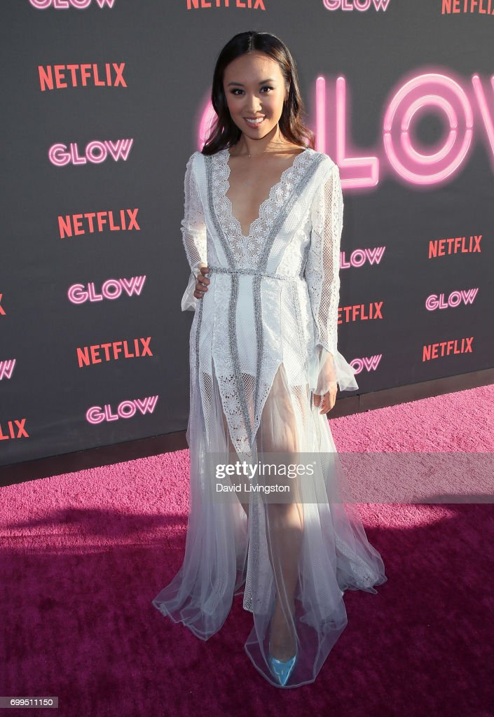 Actress Ellen Wong attends the premiere of Netflix's 'GLOW' at The Cinerama Dome on June 21, 2017 in Los Angeles, California.