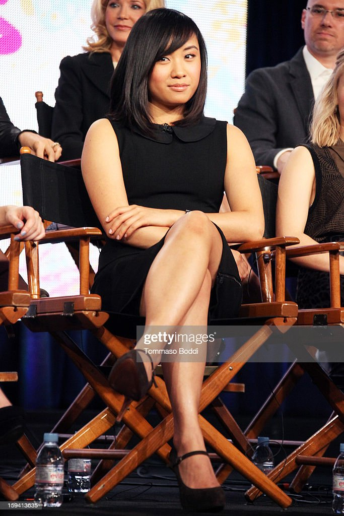 Actress Ellen Wong of the TV show 'The Carrie Diaries' attends the 2013 TCA Winter Press Tour CW/CBS panel held at The Langham Huntington Hotel and Spa on January 13, 2013 in Pasadena, California.