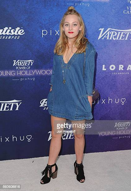 Actress Ellery Sprayberry arrives at Variety's Power Of Young Hollywood at NeueHouse Hollywood on August 16 2016 in Los Angeles California