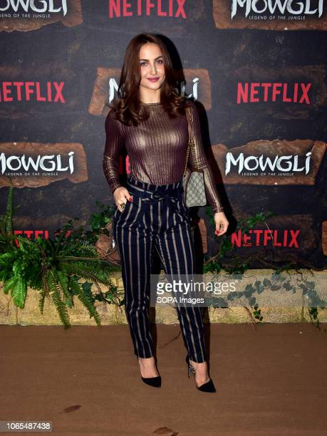Actress Elli Avram seen on the red carpet during the world premier of Netflix's 'Mowgli Legend Of The Jungle at the YRF Studio in Mumbai Netflix's...