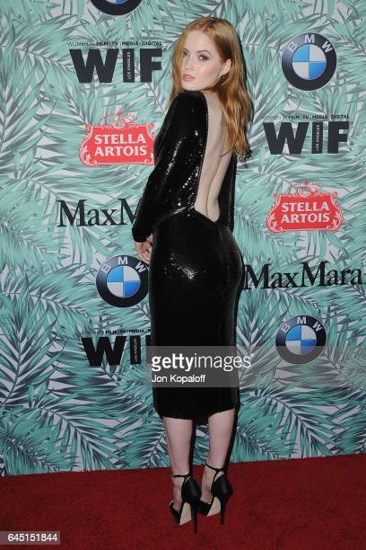 Actress Ellie Bamber arrives at the 10th Annual Women In Film Pre-Oscar Cocktail Party at Nightingale Plaza on February 24, 2017 in Los Angeles,...