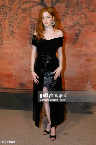 Actress Ellie Bamber attends the Chanel Cruise 2017/2018 Collection Show Photocall Held at Grand Palais on May 3 2017 in Paris France
