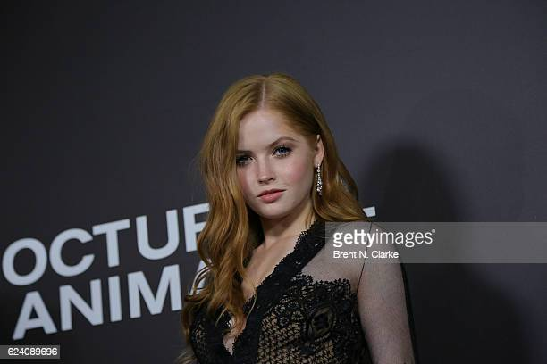 Actress Ellie Bamber attends the 'Nocturnal Animals' New York premiere held at The Paris Theatre on November 17 2016 in New York City