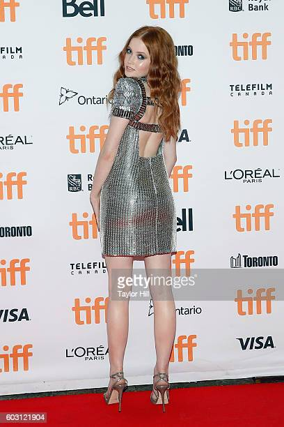 Actress Ellie Bamber attends the premiere of Nocturnal Animals during the 2016 Toronto International Film Festival at Princess of Wales Theatre on...