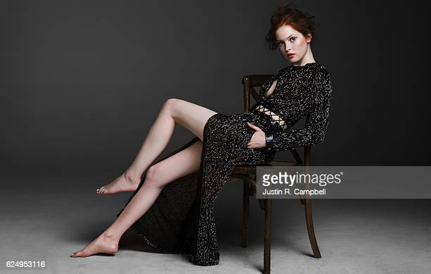 Actress Ellie Bamber is photographed for Just Jared on July 11 2016 in Los Angeles California