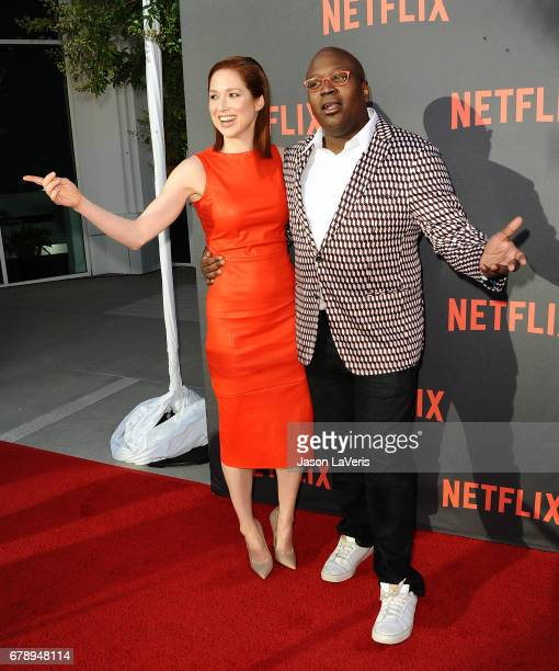 "Actress Ellie Kemper and actor Tituss Burgess attend the ""Unbreakable Kimmy Schmidt"" For Your Consideration event at Saban Media Center on May 4,..."