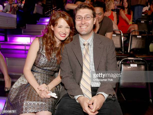 Actress Ellie Kemper and Michael Koman attend the 2012 Do Something Awards at Barker Hangar on August 19, 2012 in Santa Monica, California.