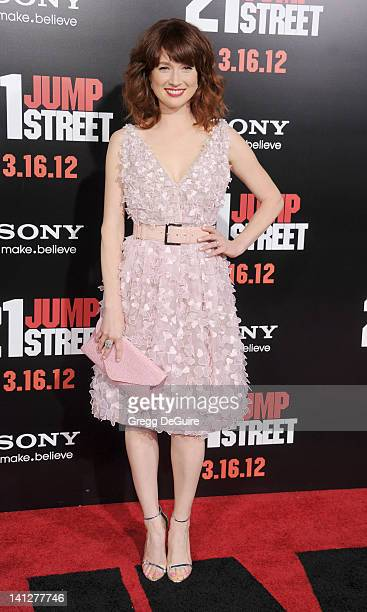 Actress Ellie Kemper arrives at '21 Jump Street' Los Angeles Premiere at Grauman's Chinese Theatre on March 13 2012 in Hollywood California