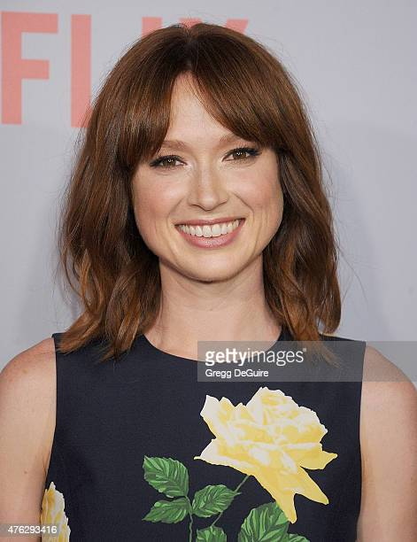 "Actress Ellie Kemper arrives at Netflix's series ""Unbreakable Kimmy Schmidt"" Q&A Screening event at Pacific Design Center on June 7, 2015 in West..."