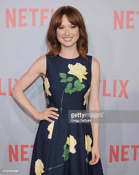 """Actress Ellie Kemper arrives at Netflix's series """"Unbreakable Kimmy Schmidt"""" Q&A Screening event at Pacific Design Center on June 7, 2015 in West..."""