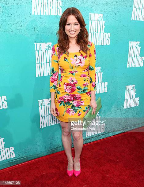 Actress Ellie Kemper arrives at the 2012 MTV Movie Awards held at Gibson Amphitheatre on June 3 2012 in Universal City California