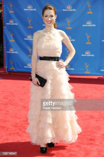 Actress Ellie Kemper arrives at the 62nd Annual Primetime Emmy Awards held at the Nokia Theatre LA Live on August 29 2010 in Los Angeles California