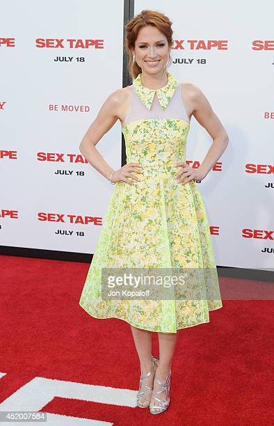 "Actress Ellie Kemper arrives at the Los Angeles Premiere ""Sex Tape"" at Regency Village Theatre on July 10, 2014 in Westwood, California."