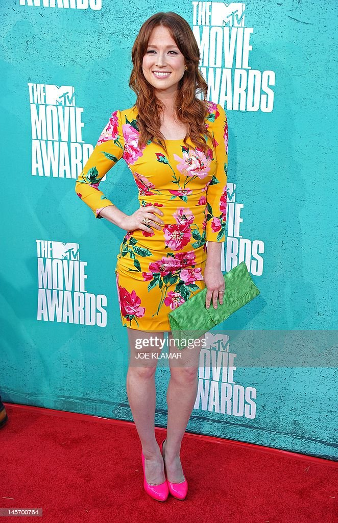 Actress Ellie Kemper arrives at the MTV Movie Awards at Universal Studios, in Los Angeles, California, on June 3, 2012.