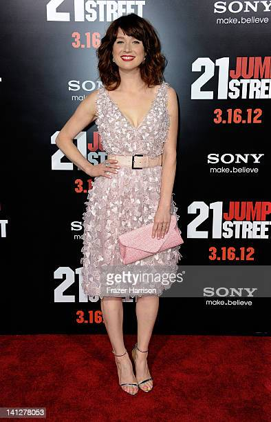 Actress Ellie Kemper arrives at the Premiere Of Columbia Pictures' 21 Jump Street at Grauman's Chinese Theatre on March 13 2012 in Hollywood...