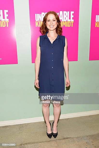 "Actress Ellie Kemper attends a For Your Consideration panel for the show ""Unbreakable Kimmy Schmidt"" at UCB Sunset Theater on June 6, 2016 in Los..."