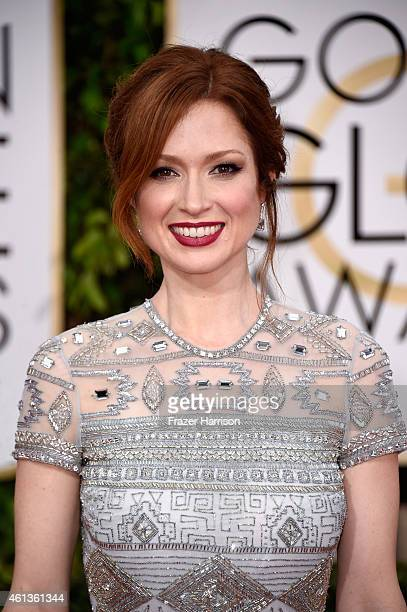 Actress Ellie Kemper attends the 72nd Annual Golden Globe Awards at The Beverly Hilton Hotel on January 11 2015 in Beverly Hills California