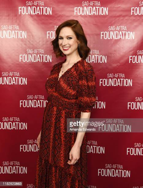 Actress Ellie Kemper attends the SAGAFTRA Foundation Conversations with Unbreakable Kimmy Schmidt at the SAGAFTRA Foundation Screening Room on May 29...