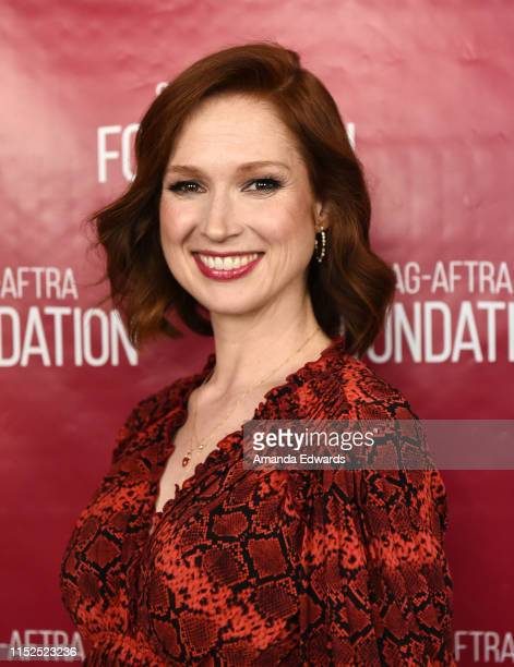 "Actress Ellie Kemper attends the SAG-AFTRA Foundation Conversations with ""Unbreakable Kimmy Schmidt"" at the SAG-AFTRA Foundation Screening Room on..."