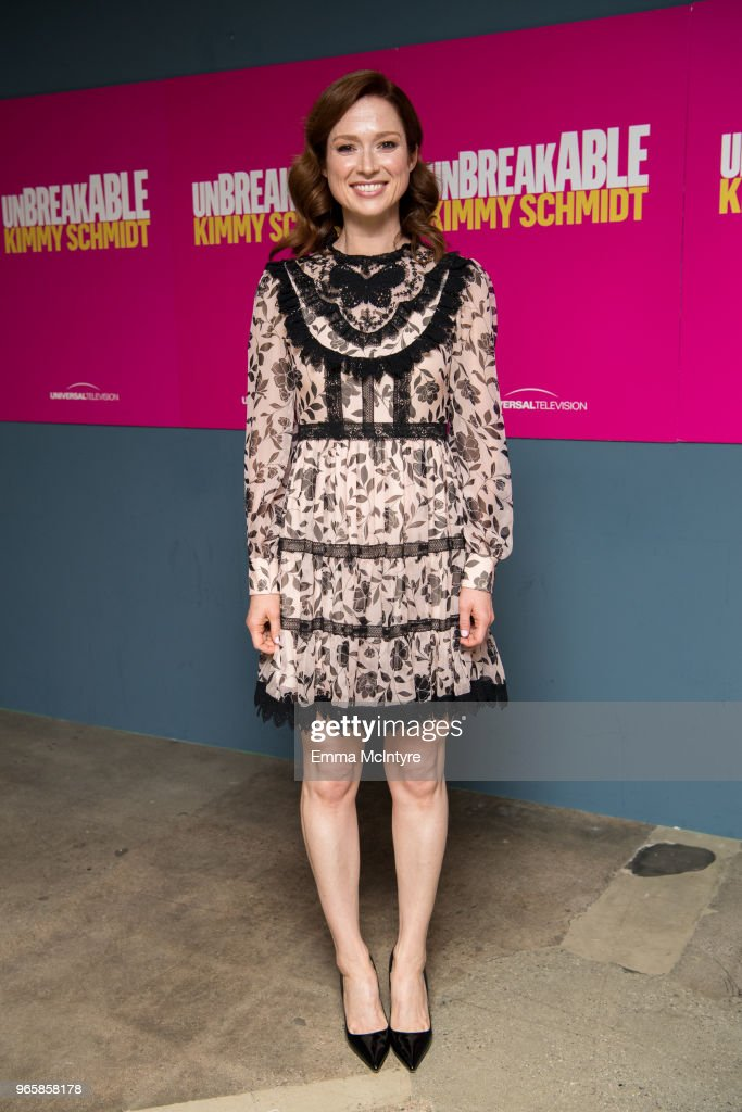 Actress Ellie Kemper attends Universal Television's FYC @ UCB 'Unbreakable Kimmy Schmidt' at UCB Sunset Theater on June 1, 2018 in Los Angeles, California.
