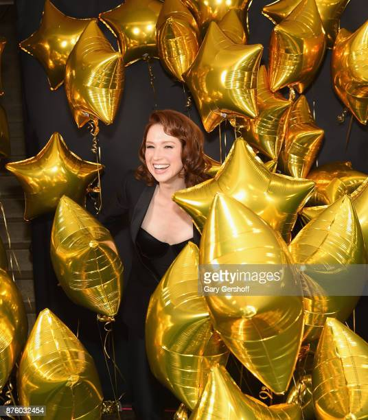 Actress Ellie Kemper poses among balloons during HBO's Night Of Too Many Stars America Unites For Autism Programs at The Theater at Madison Square...