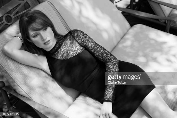 Actress Ellie Kemper poses at a portrait session for Nylon Magazine in Los Angeles California on July 5 2010