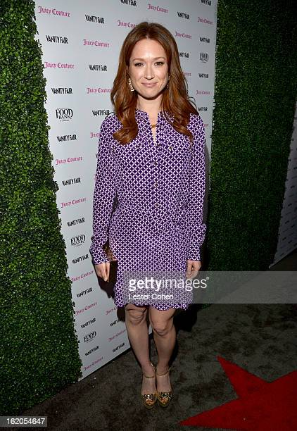 """Actress Ellie Kemper wearing Juicy Couture attends Vanity Fair and Juicy Couture's Celebration of the 2013 """"Vanities"""" Calendar hosted by Vanity Fair..."""