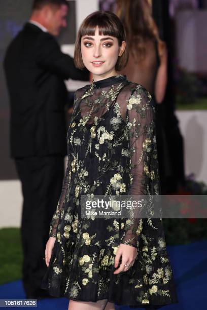 Actress Ellise Chappell attends the European Premiere of Mary Poppins Returns at Royal Albert Hall on December 12 2018 in London England