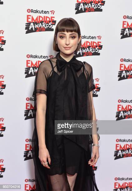 Actress Ellise Chappell attends the Rakuten TV EMPIRE Awards 2018 at The Roundhouse on March 18 2018 in London England