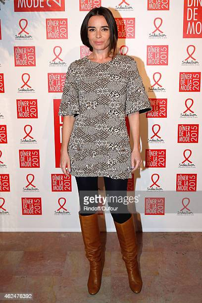 Actress Elodie Bbouchez attends the Sidaction Gala Dinner 2015 at Pavillon d'Armenonville on January 29 2015 in Paris France