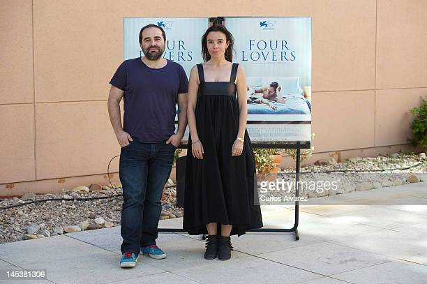 Actress Elodie Bouchez and director Antony Cordier attend a photocall for 'Four Lovers' at the French Institute on May 28 2012 in Madrid Spain