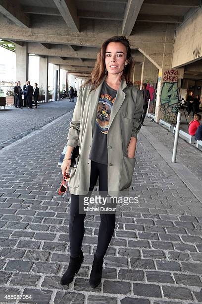 Actress Elodie Bouchez attends the Anthony Vaccarello show as part of the Paris Fashion Week Womenswear Spring/Summer 2015 on September 23 2014 in...