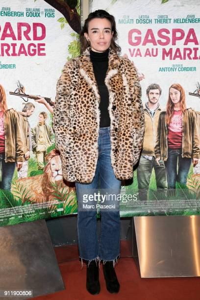 Actress Elodie Bouchez attends the 'Gaspard va au mariage' Premiere at UGC Cine Cite des Halles on January 29 2018 in Paris France
