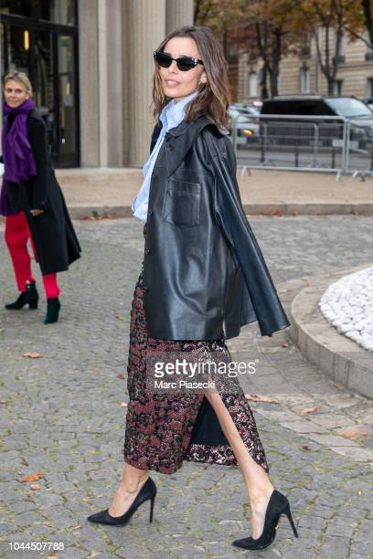 Actress Elodie Bouchez attends the Miu Miu show as part of the Paris Fashion Week Womenswear Spring/Summer 2019 on October 2 2018 in Paris France